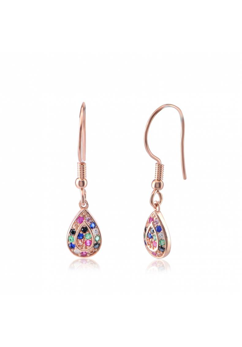 SMALL DROP RAINBOW EARRINGS