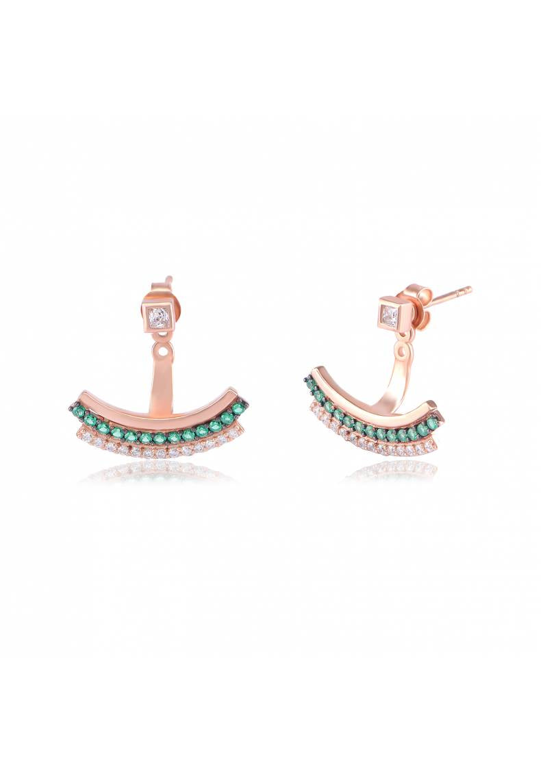 PAVE ROW EARRINGS