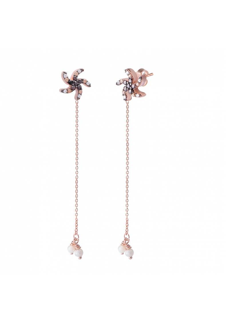 CHAINED STARFISH EARRINGS
