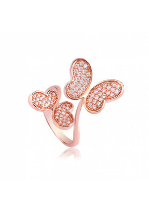 DOUBLE BUTTERFLY RING