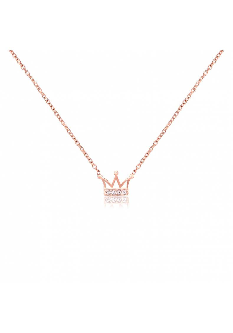 ROYAL CROWN ZIRCON NECKLACE