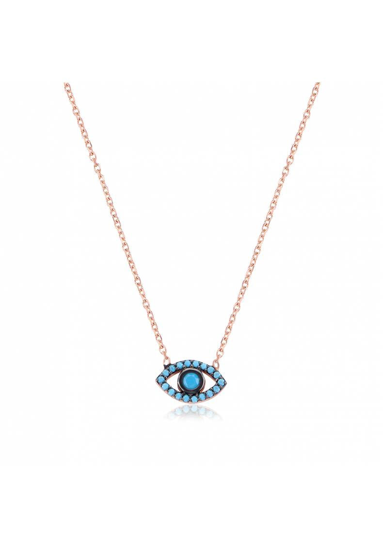 BLUE STONE EYE NECKLACE