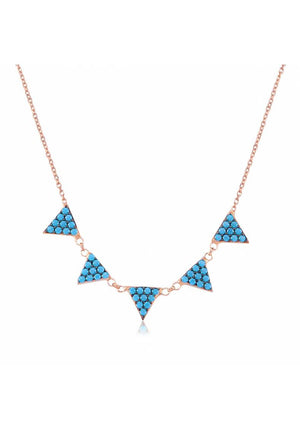 TURQUOISE PYRAMID NECKLACE