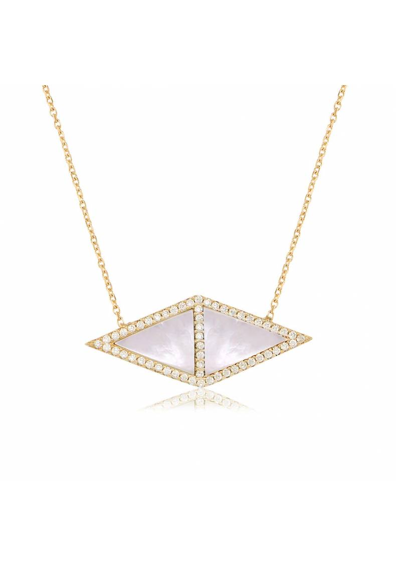 PAVE STONE GEOMETRIC NECKLACE
