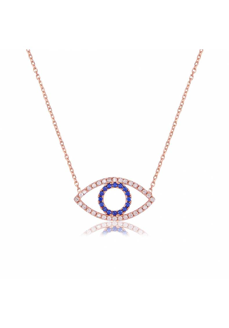 BLANK EYE PAVE STONE NECKLACE