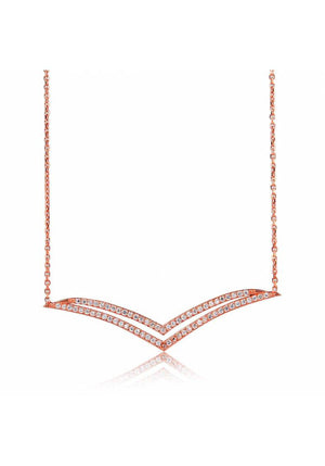 SEAGULL WINGS PAVE NECKLACE