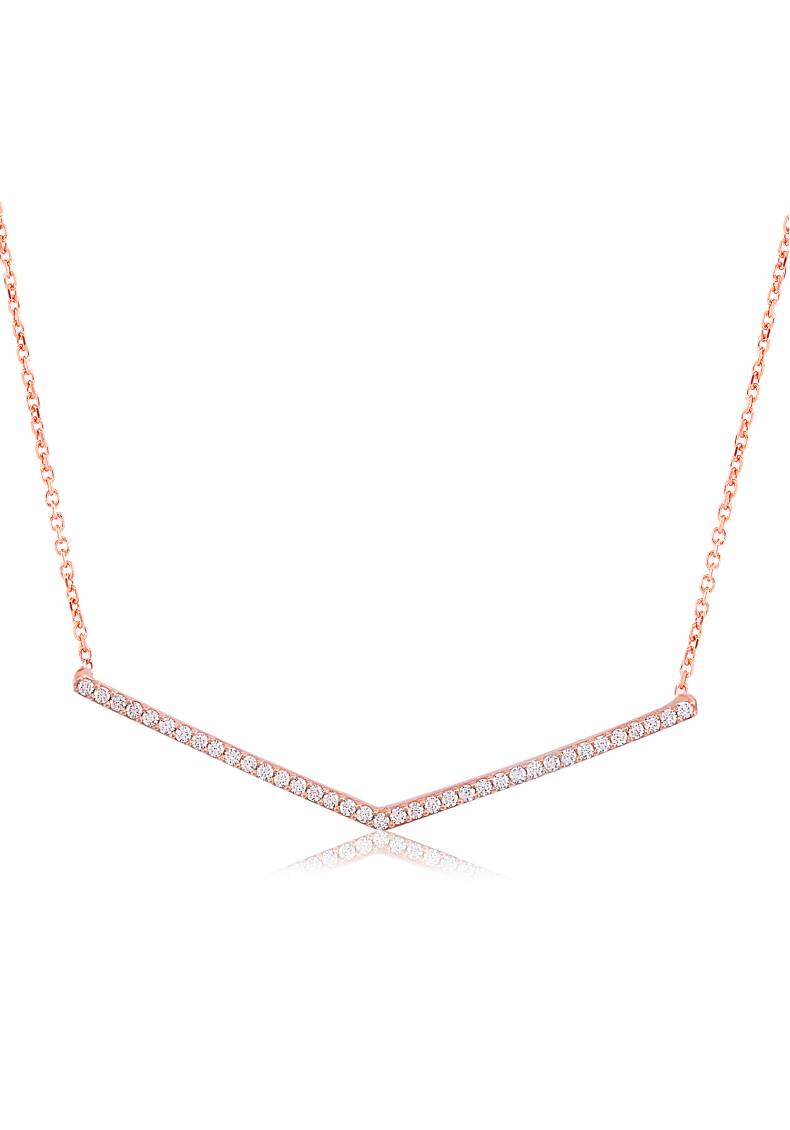 WHITE ZIRCON PAVE NECKLACE