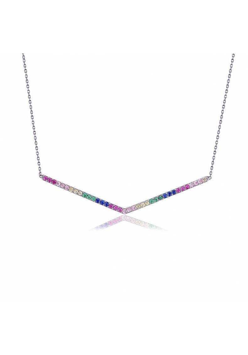 RAINBOW PAVE NECKLACE