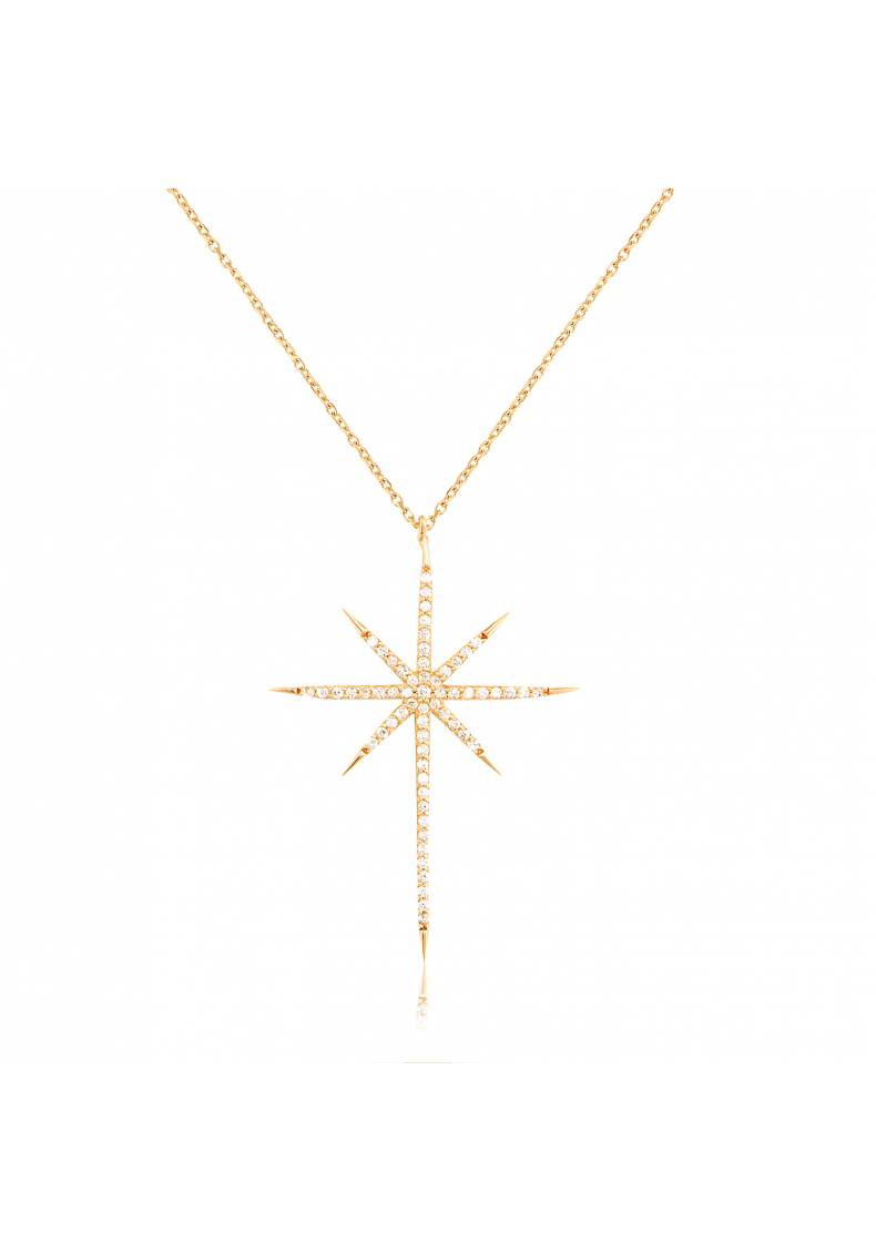 NORTH STAR PAVE NECKLACE