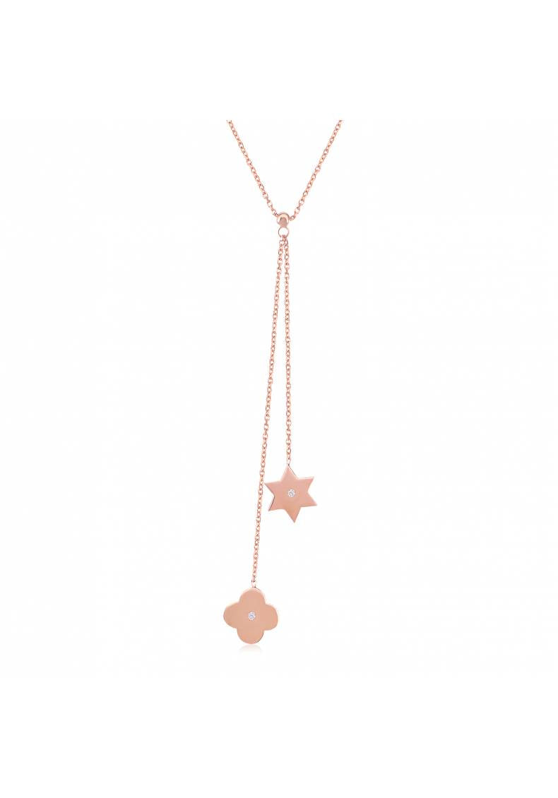 STAR OF DAVID CLOVER NECKLACE