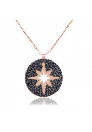 NORTH STAR MEDALLION NECKLACE