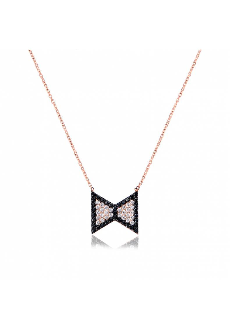 BOW TIE STERLING SILVER NECKLACE