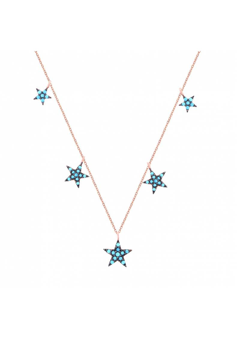 BLACK TURQUOISE STAR NECKLACE