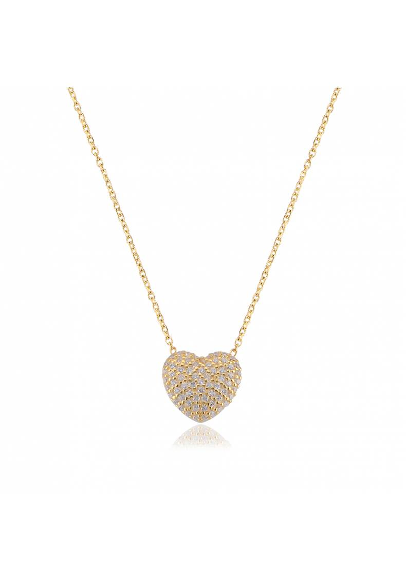 CUSHION HEART NECKLACE