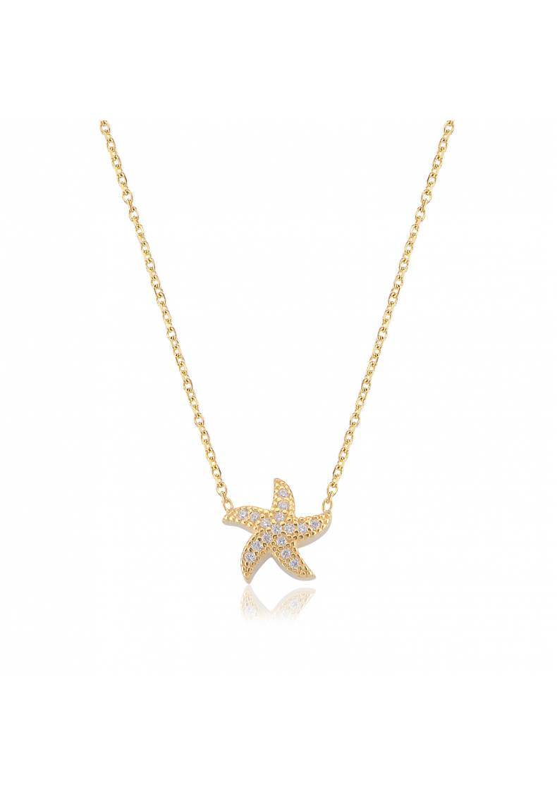 YELLOW GOLD STARFISH NECKLACE