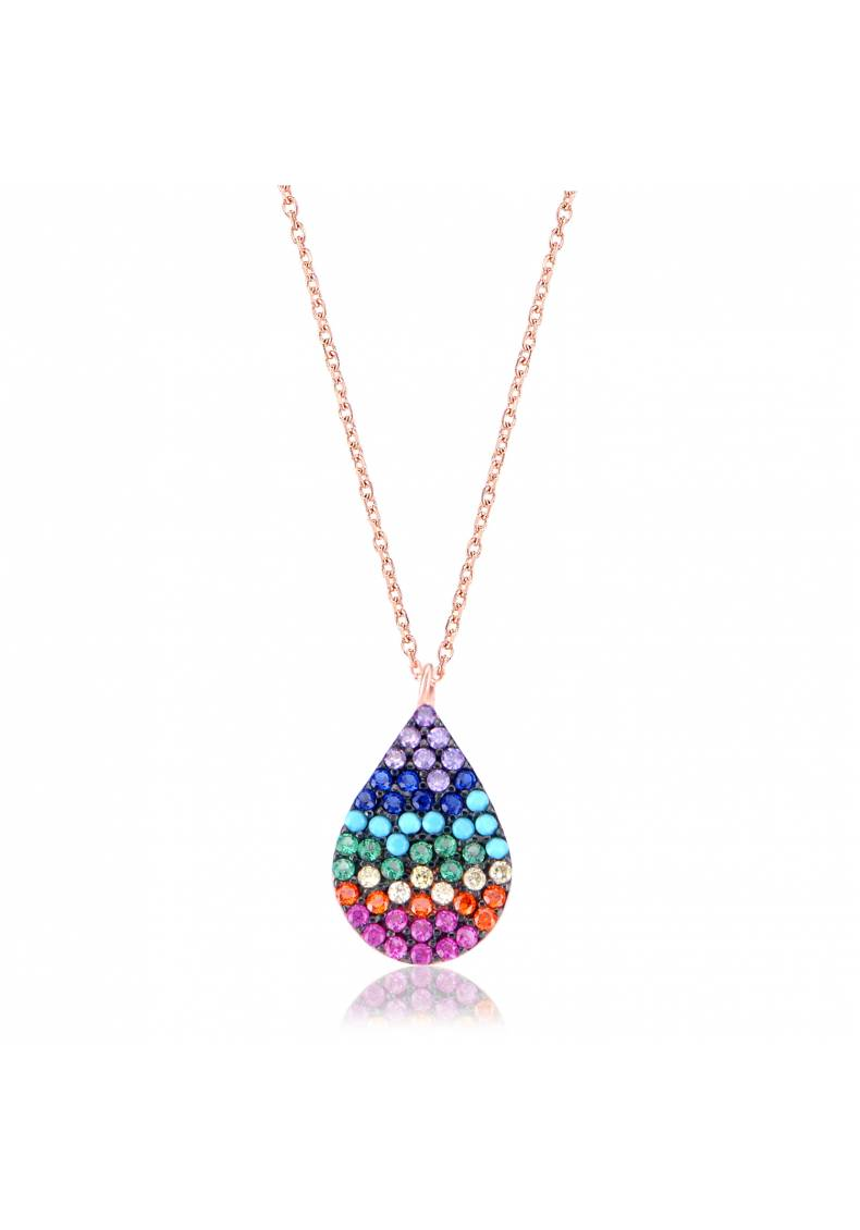 RAINBOW COLORFUL DROP NECKLACE
