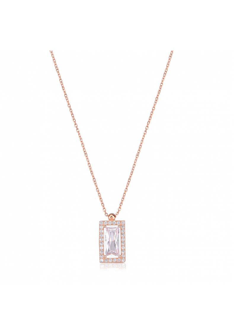 MEDALLION ZIRCON NECKLACE