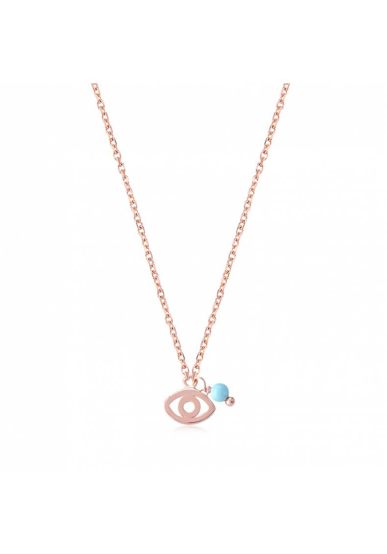 STERLING SILVER BLEU BEAD EYE NECKLACE