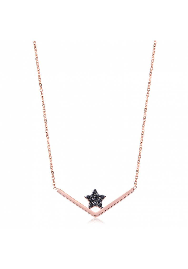 BLACK STAR CHANNEL NECKLACE