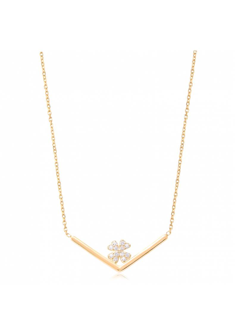 CLOVER CHANNEL NECKLACE