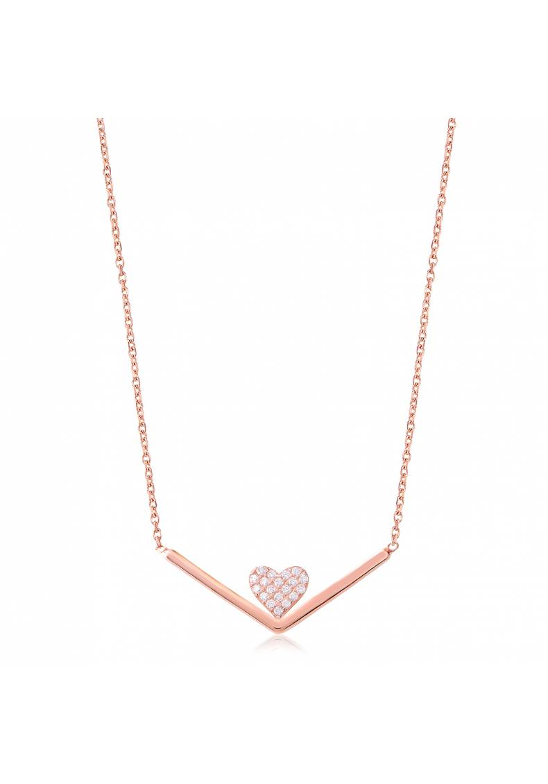 HEART CHANNEL NECKLACE