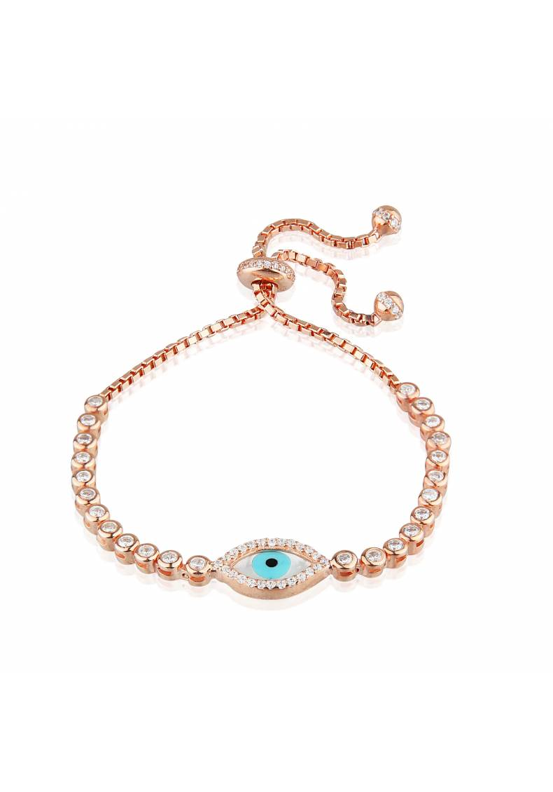 EVIL EYE ADJUSTABLE TENNIS BRACELET