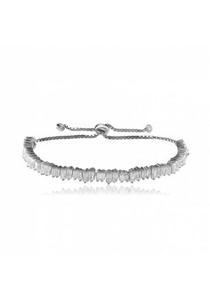 ADJUSTABLE BAGUETTE STERLING SILVER BRACELET