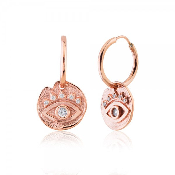 MEDALLION EYE EARRINGS