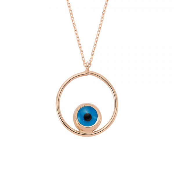 ROUND BEADED EYE NECKLACE