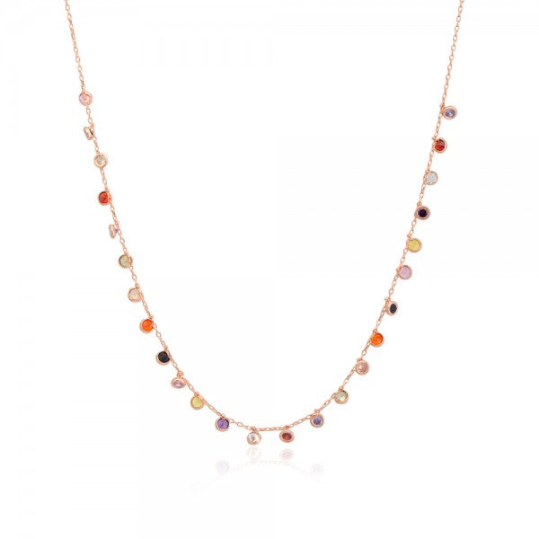 RAINBOW CZ DROPS NECKLACE