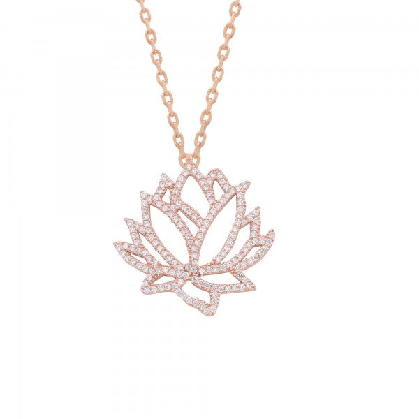 LOTUS PAVE NECKLACE