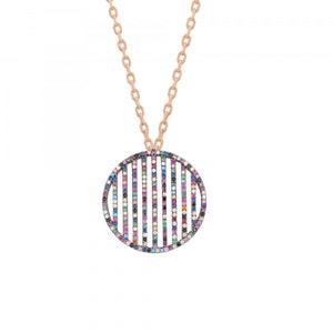 RAINBOW VERTICAL ROW NECKLACE