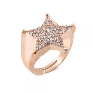 STAR SHAPE FULL ZIRCON PAVE RING