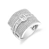 PAVE BUCKLE RING