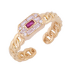 COLORFUL BAGUETTE BRAIDED RING
