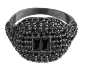 PAVE STONE PINKY RING