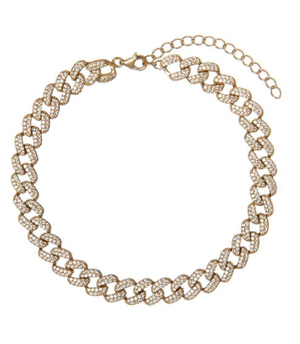 PAVE CHAIN LINK ANKLET