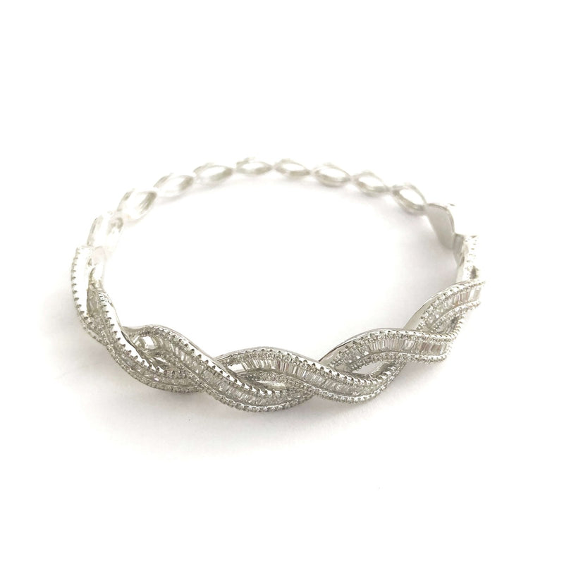Braided Baguette Bangle Cuff