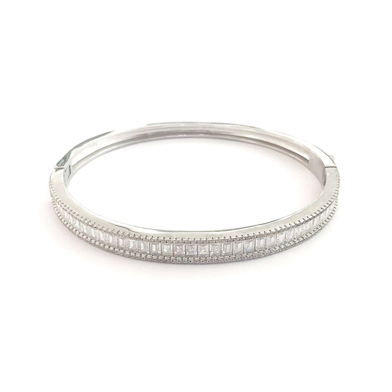 Stunning Baguette Stone Full Bangle Bracelet