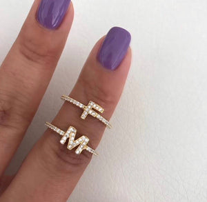 MINI CUSTOM INITIAL LETTER RING