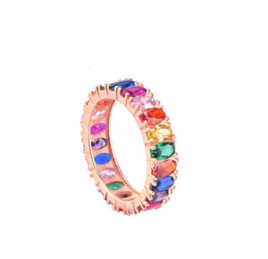 RAINBOW OVAL RING