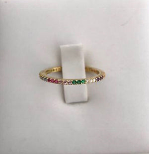 STERLING SILVER GOLD PLATED STAR BAND, RAINBOW SNAKE & BANDS