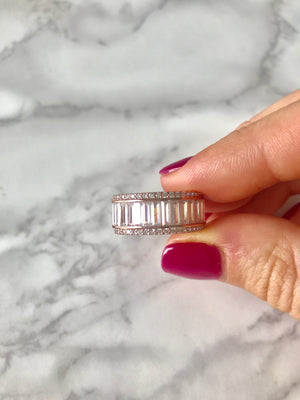 GLAM BAGUETTE, CRISS CROSS, BRAIDED CZ & ETERNITY BAND RINGS