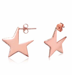 STAR CZ STERLING SILVER EARRINGS