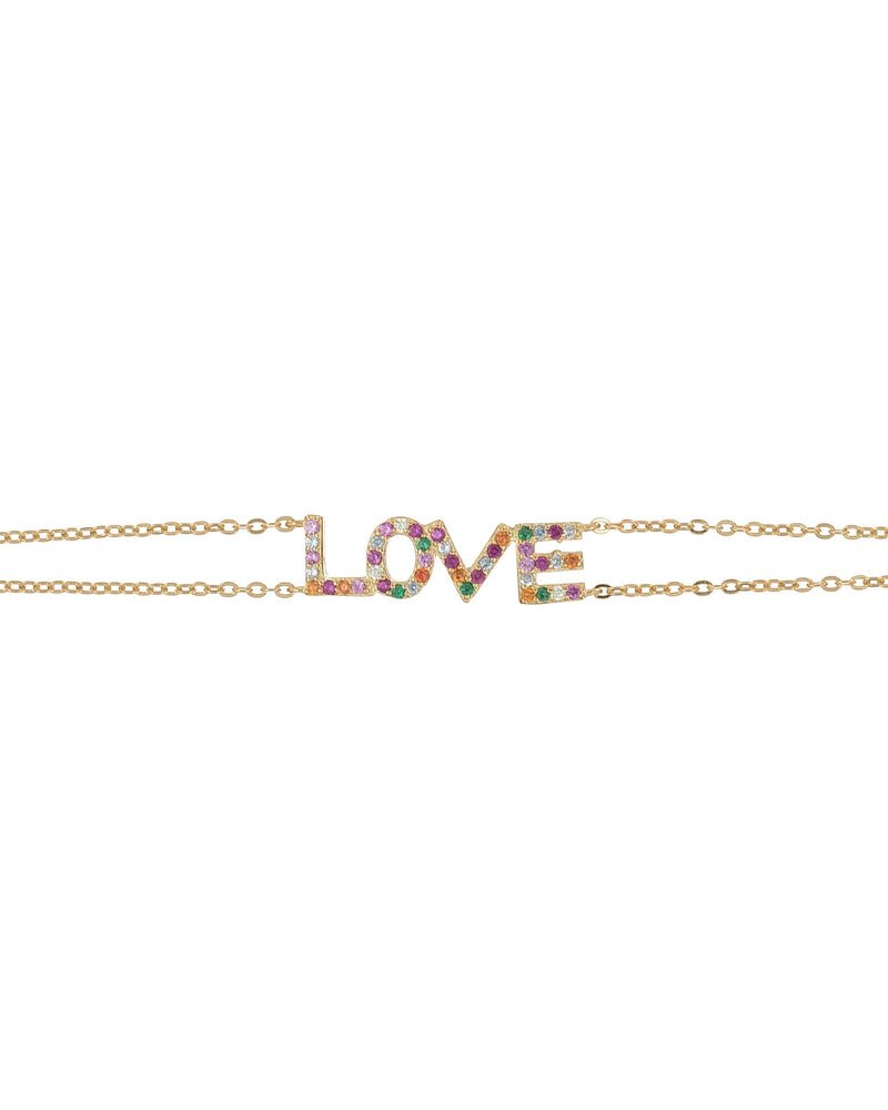 STERLING SILVER RAINBOW LOVE BRACELET
