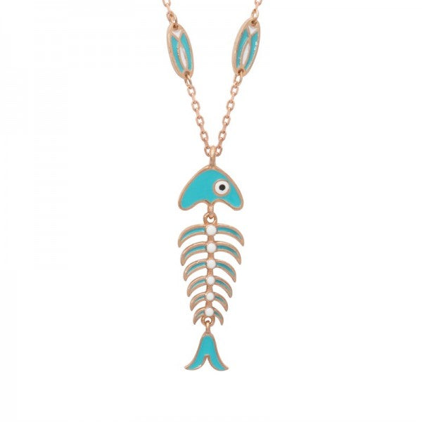 ENAMELED FISH NECK;ACE