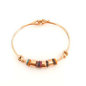 Rainbow Mini Rings Bracelet Cuff