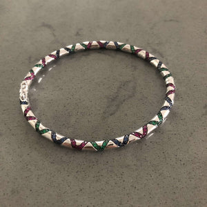 Tribal Inspired Colored Bangle Cuff