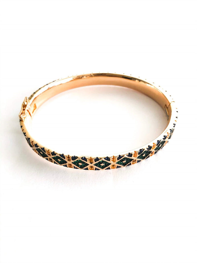 Tribal Geometric Bangle Cuff