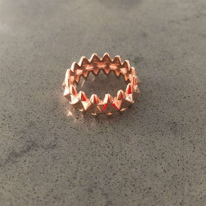 Triangle Spike Design Ring